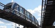 Поезд монорельсовой транспортной системы. Архивное фото