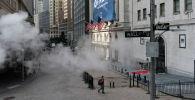 Нью-Йорктогу Уолл-стрит көчөсүндөгү абал