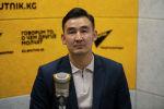 Президент Кыргызской фондовой биржи Медет Назаралиев во время беседы на радио Sputnik