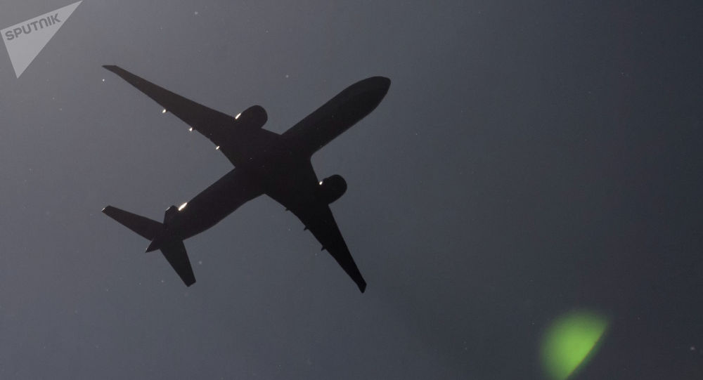 Пассажирский самолет в небе. Архивное фото