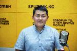 Этнический кыргыз из Китая, акын-импровизатор и певец Акматбек Султан уулу во время беседы на радио Sputnik