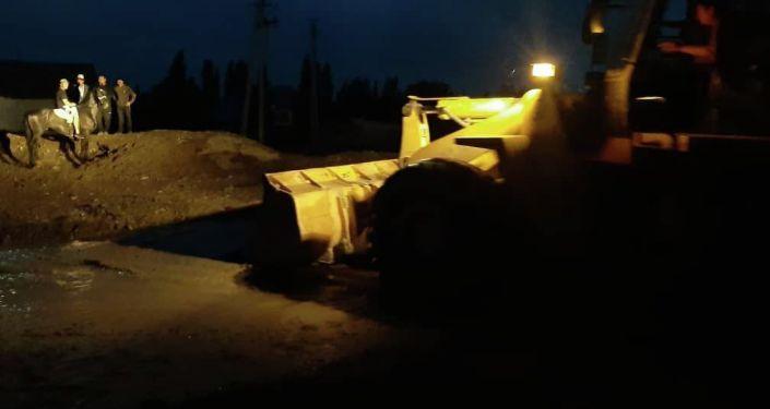 Последствия селя в Сузакском районе Джалал-Абадской области
