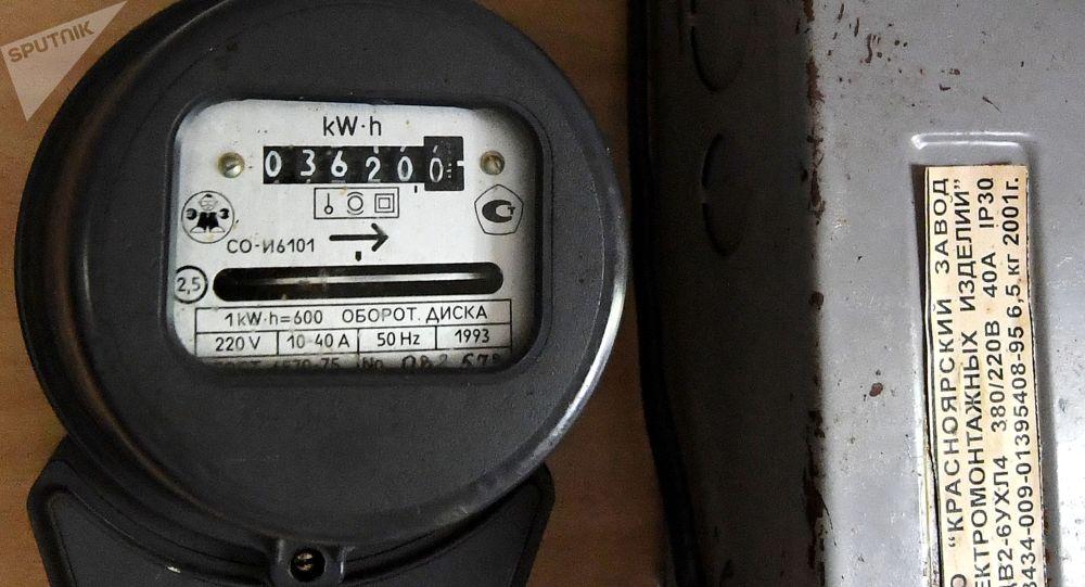 Счётчик учёта электроэнергии на базе отдыха в Красноярском крае.