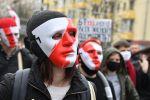 Минск шаарында оппозициянын Элдик ультиматум митингинин катышуучулары. Архивдик сүрөт