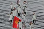 Делегация Кыргызстана во время церемонии открытия Олимпийских игр в Токио-2020