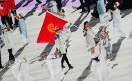 Сборная Кыргызстана во время церемонии открытия Олимпийских игр в Токио