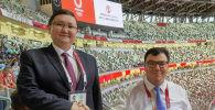 Маданият, маалымат, спорт жана жаштар саясаты министри Кайрат Иманалиев Токио шаарында
