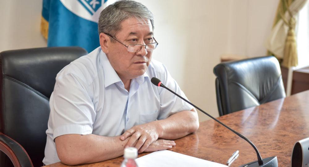 Бишкек мэринин милдетин аткаруучу Бактыбек Кудайбергенов. Архив