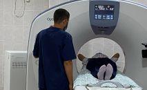 Компьютерный томограф (КТ) Optima CT520 16sl в инфекционной больнице в Бишкеке