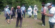 Жалал-Абаддын Токтогул райондук милициясы медицина кызматкерлери жана айыл өкмөтүнүн өкүлдөрү менен бирге элге түшүндүрүү иштерин жүргүздү