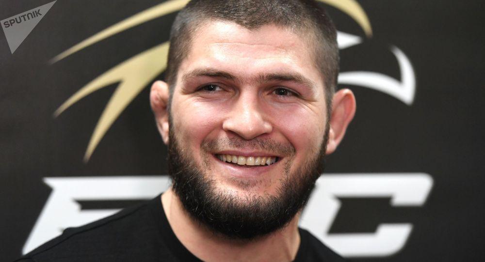 UFC уюмунун экс-чемпиону Хабиб Нурмагомедов. Архив
