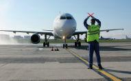 В Национальном аэропорту Минска торжественно встретили первый регулярный рейс из Бишкека