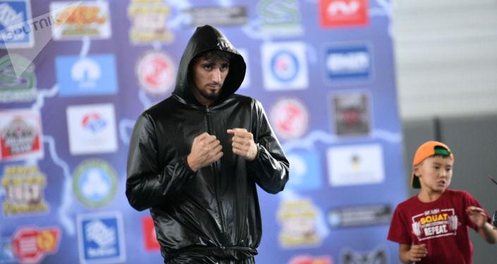 Один из участников чемпионата мира по пяти видам боевых искусств Единство-2021 в Чолпон-Ате. 03 августа 2021 года