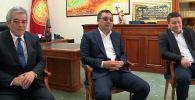 Финал в прямом эфире смотрели президент Садыр Жапаров, спикер Жогорку Кенеша Талант Мамытов и руководитель администрации президента Суйунбек Касмамбетов.