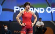 Серебряная медалистка Олимпийских игр в Токио Айсулуу Тыныбекова. Архивное фото