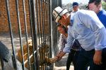Председатель Кабинета Министров Кыргызстана Улукбек Марипов в рамках рабочей поездки в Иссык-Кульскую область посетил зоопарк Бугу Эне в городе Каракол