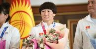 Токиодо өтүп жаткан Олимпиадада кыз-келиндер күрөшүнөн күмүшкө жеткен Айсулуу Тыныбекова
