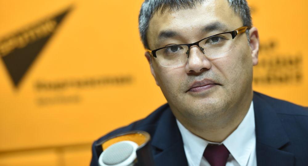Экономика жана финансы министринин орун басары Данияр Иманалиев. Архив