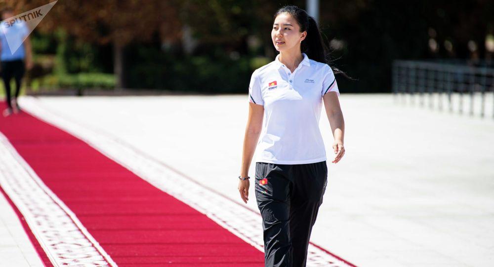 Участница Олимпийских игр в Токио по пулевой стрельбе Каныкей Кубанычбекова. Архивное фото
