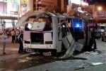 Взорвавшийся пассажирский автобус на остановке в Воронеже