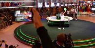 Жеребьевка команд участниц конкурсов армейских международных игр Танковый биатлон и Меридиан в военно-патриотическом парке Патриот