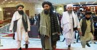 Делегация талибов на афганской мирной конференции в Москве. 18 марта 2021 года
