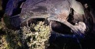 Последствия ДТП на 407-м км автодороги Бишкек-Нарын-Торугарт.