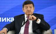 Заместитель председателя кабинета министров, министр экономики и финансов КР Акылбек Жапаров на третьем Кыргызско-российском бизнес-форуме в Чолпон-Ате