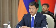 Председатель кабинета министров КР Улукбек Марипов на очередном заседании Евразийского межправительственного совета в Чолпон-Ате