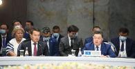 Премьер-министр Казахстана Аскар Мамин на очередном заседании Евразийского межправительственного совета в Чолпон-Ате