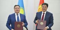 Состоялась двусторонняя встреча председателя кабинета министров Кыргызской Республики Улукбека Марипова с премьер-министром Республики Казахстан Аскаром Маминым в Чолпон-Ате