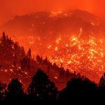 Лесные пожары в Калифорнии, США. 17 августа 2021 года