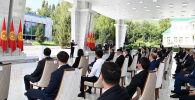 Президент Садыр Жапаров на торжественной церемонии вручения государственных наград призерам и участникам XXXII Олимпийских игр в Токио.
