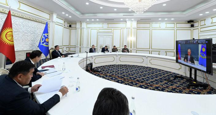 Внеочередная сессия Совета коллективной безопасности ОДКБ, состоявшаяся по инициативе российской стороны в формате видеоконференции. 23 августа 2021 года