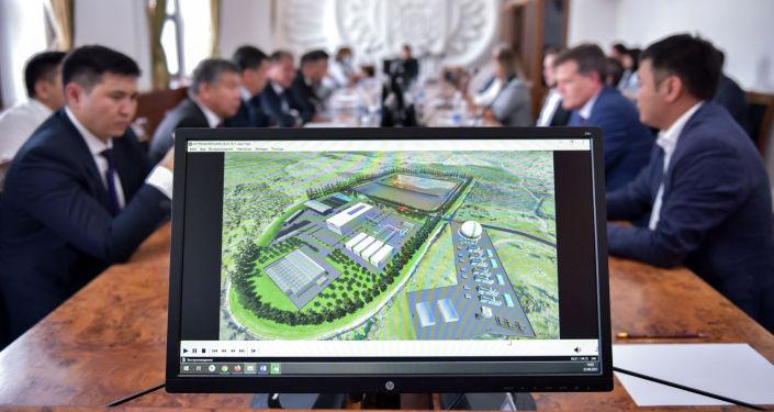 Проект мусороперерабатывающего завода в Бишкеке во время подписания меморандума о проектировании и строительстве. 23 августа 2021 года
