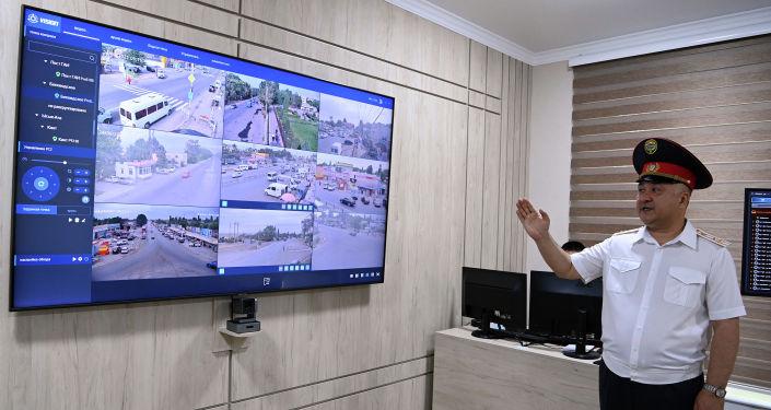 Центр оперативного управления и координации в здании МВД во время посещения президентом КР. 24 августа 2021 года