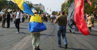 Участники Марша защитников Украины в Киеве. Архивное фото