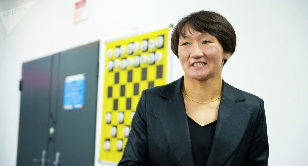 Кыргыздын сыймыгы, Токио Олимпиадасынын күмүш байге ээси, дүйнө чемпиону Айсулуу Тыныбекова. Архивдик сүрөт