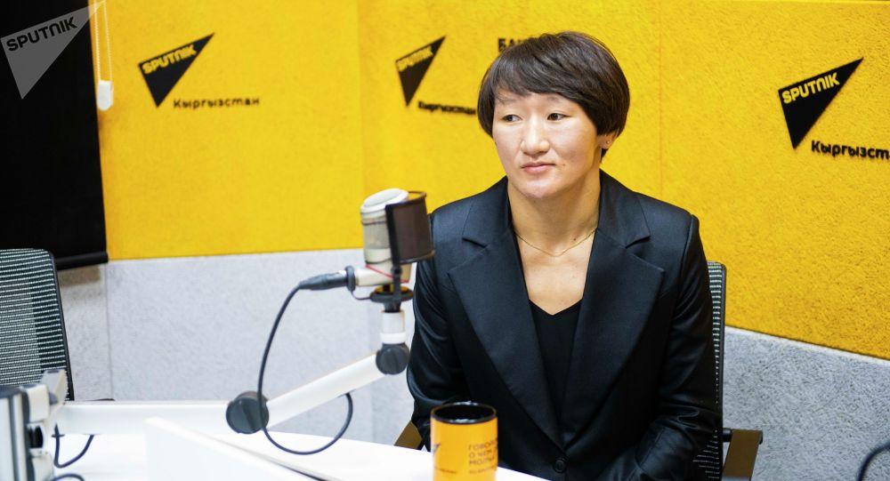 Серебряная медалистка Олимпийских игр в Токио, чемпионка мира по борьбе Айсулуу Тыныбекова