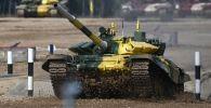 Кыргызстан аскер кызматкерлеринен Т-72В3 танкы