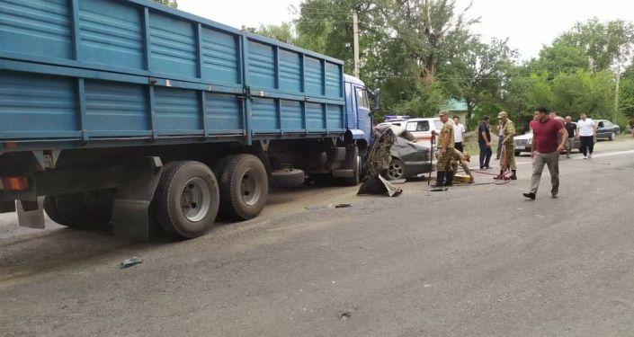 ДТП со смертельным исходом произошло село Панфиловское, столкнулись КамАЗ и автомобиль Daewoo Nubira. 27 августа 2021 года