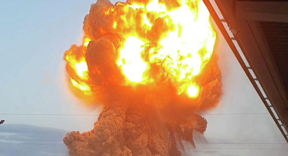 Взрыв на складе боеприпасов министерства обороны РК в южной части Жамбыла