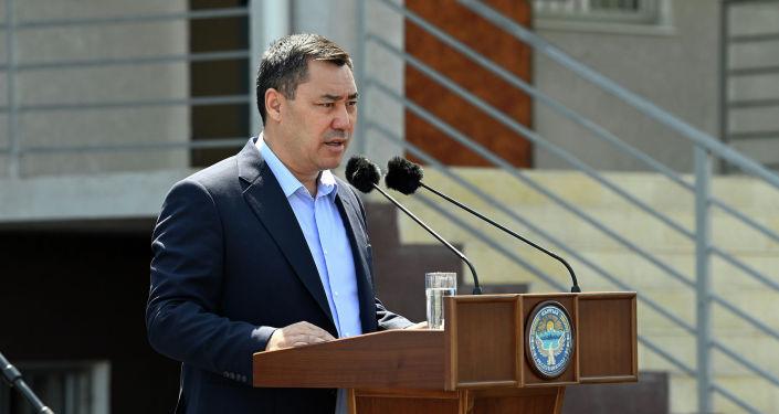 Президент Садыр Жапаров в рамках рабочей поездки в Баткенскую область осмотрел новое современное здание отдела внутренних дел Кадамжайского района. 28 августа 2021 года