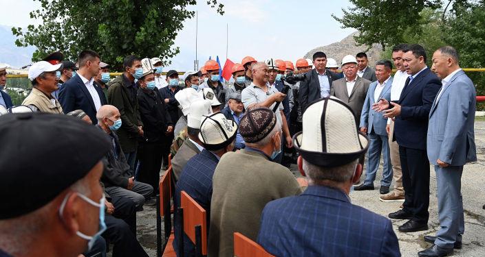 Президент Садыр Жапаров ознакомился с состоянием Айдаркенского ртутного комбината, расположенного в г. Айдаркен. 28 августа 2021 года