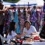 В центре Бишкека стартовал ежегодный фестиваль традиционной культуры и ремесел Оймо