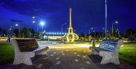 Инсталляция комуза в парке Ынтымак в Бишкеке. Архивное фото