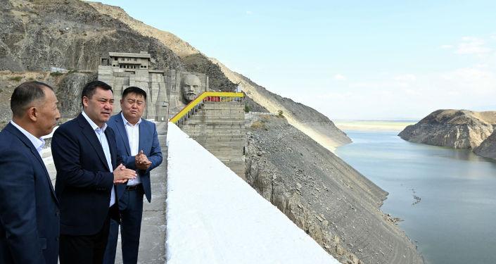 Президент Кыргызской Республики Садыр Жапаров на Кировском водохранилище. 29 августа 2021 года