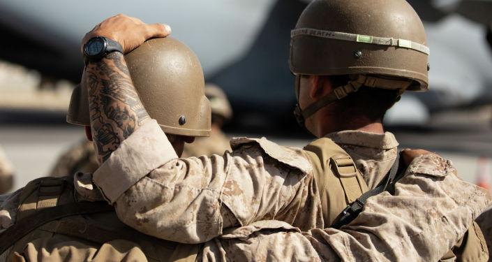 АКШ аскерлери Кабулдагы аэропортунда. Архивдик сүрөт