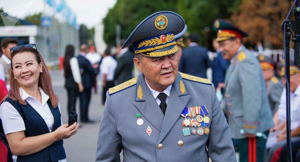 Председатель ГКНБ Камчыбек Ташиев на праздновании 30-летия Дня независимости Кыргызстана на площади Ала-Тоо в Бишкеке