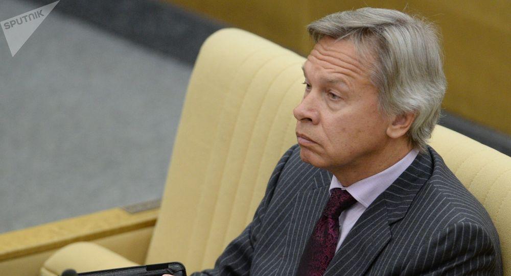 Сенатор Российской Федерации Алексей Пушков. Архивное фото